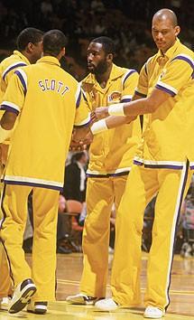 James Worthy, Magic Johson, Jabbar, Lakers