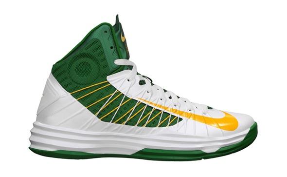 Nike Hyperdunk Brazil White University Gold-Pine Green-Gorge GreenHyperdunk 2012 White Volt