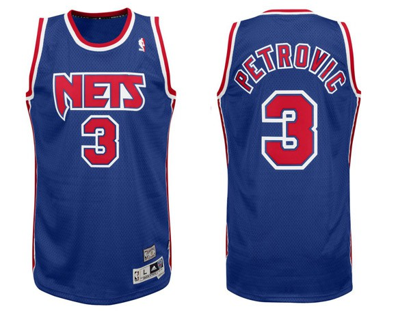 Camiseta Drazen Petrovic Nets NBA