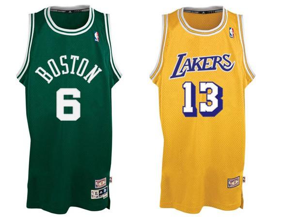 Camiseta Bill Russell Celtics y Wilt Chamberlain Celtics