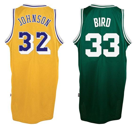 Camiseta Magic Johnson y Larry Bird
