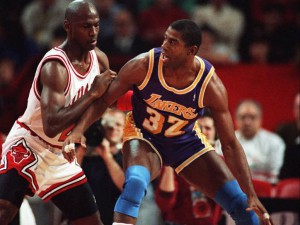 Magic Johnson, el segundo jugador con más triples-dobles de la historia NBA.