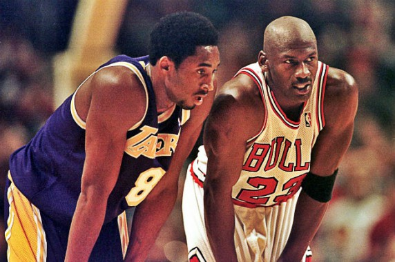 Michael Jordan y Kobe Bryant, dos de los máximos anotadores de la historia en las estadísticas NBA.