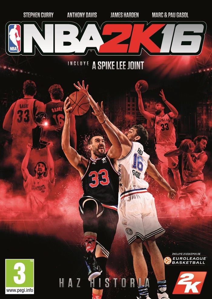 portada NBA 2K16 Pau Gasol Marc Gasol