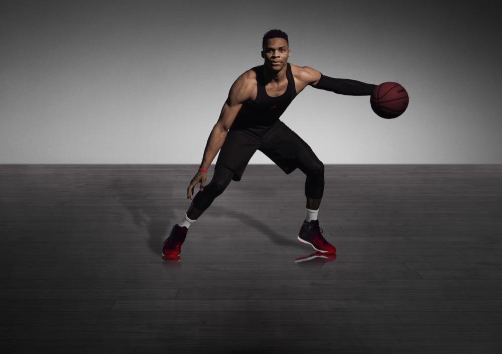 Russell Westbrook con las Air Jordan XXXI