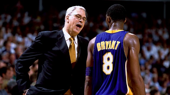 Kobe Bryant y Phil Jackson