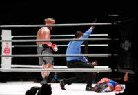 Nate Robinson besa la lona por KO en su debut como boxeador