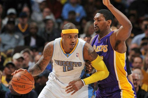 Carmelo Anthony estuvo muy bien ante Lakers